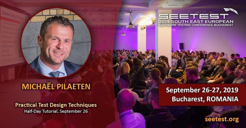 Another speaker at SEETEST 2019 - Michaël Pilaeten!