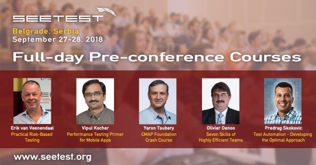Announcing our pre-conference courses at SEETEST 2018!