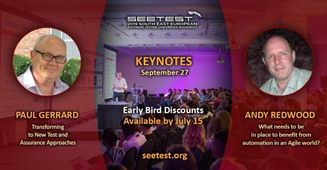 Keynotes for SEETEST 2019 have been announced!