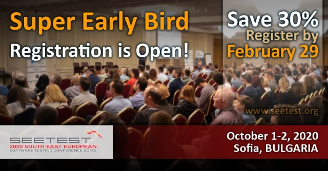 Super Early Bird for SEETEST 2020 is now open!