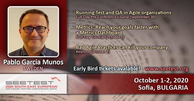 Announcing our next speaker - Pablo Garcia Munos!